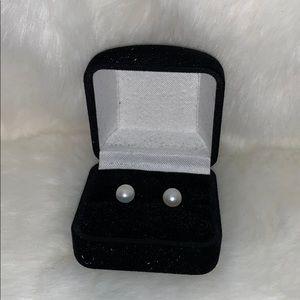 1 Pair of Earrings - Genuine FWP & SS